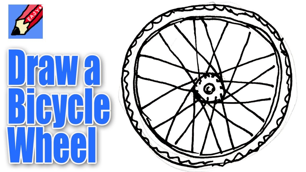 1280x720 How To Draw A Bicycle Wheel Real Easy