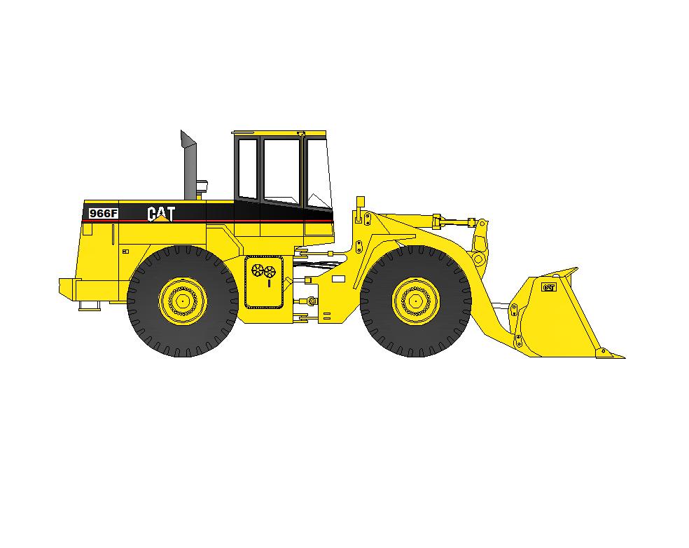 984x782 2d Cad Wheel Loader