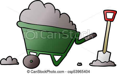 450x285 Cartoon Wheelbarrow Vector Clipart