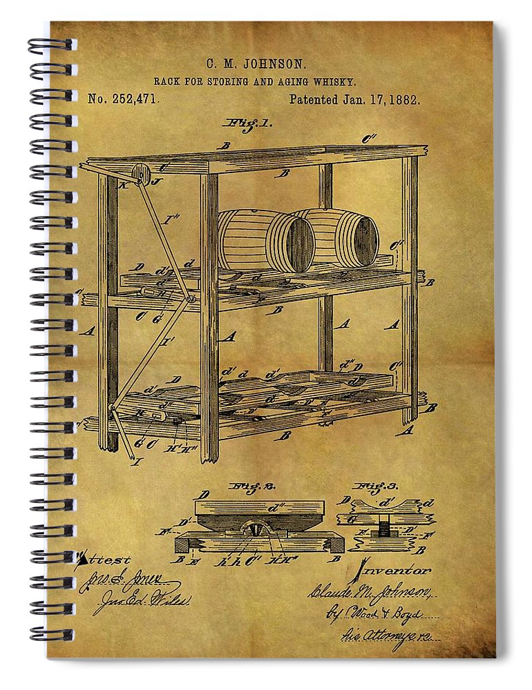 770x1000 1882 Whiskey Barrel Rack Spiral Notebook For Sale By Dan Sproul