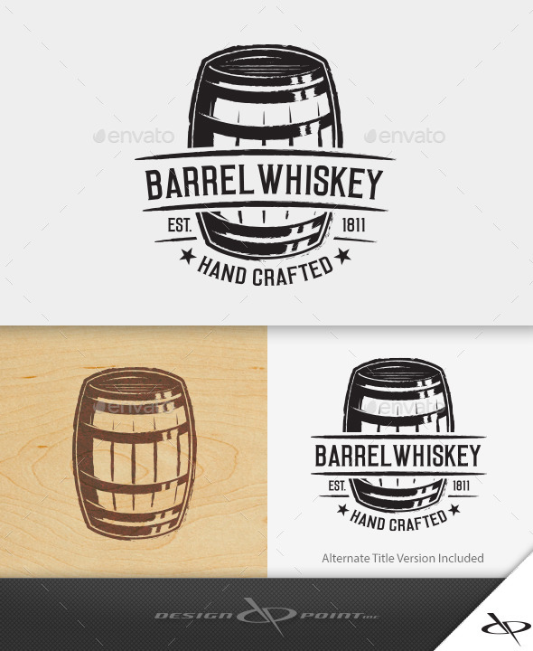 590x720 Barrel Whiskey Logo By Designpoint Graphicriver