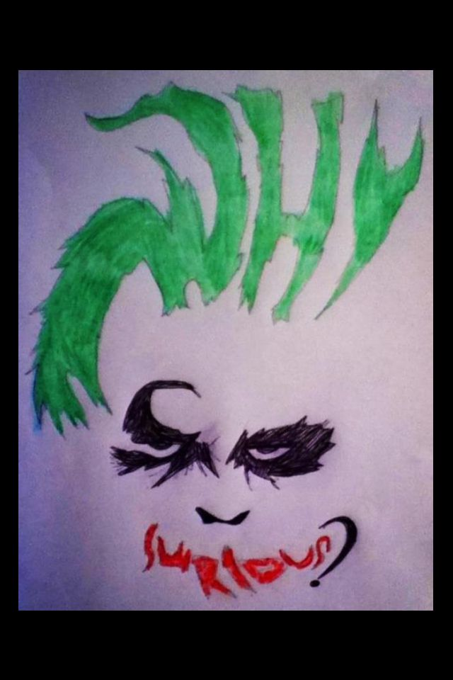 640x960 Joker Why So Serious Drawing By 13 Year Old Micaila D'Angelico