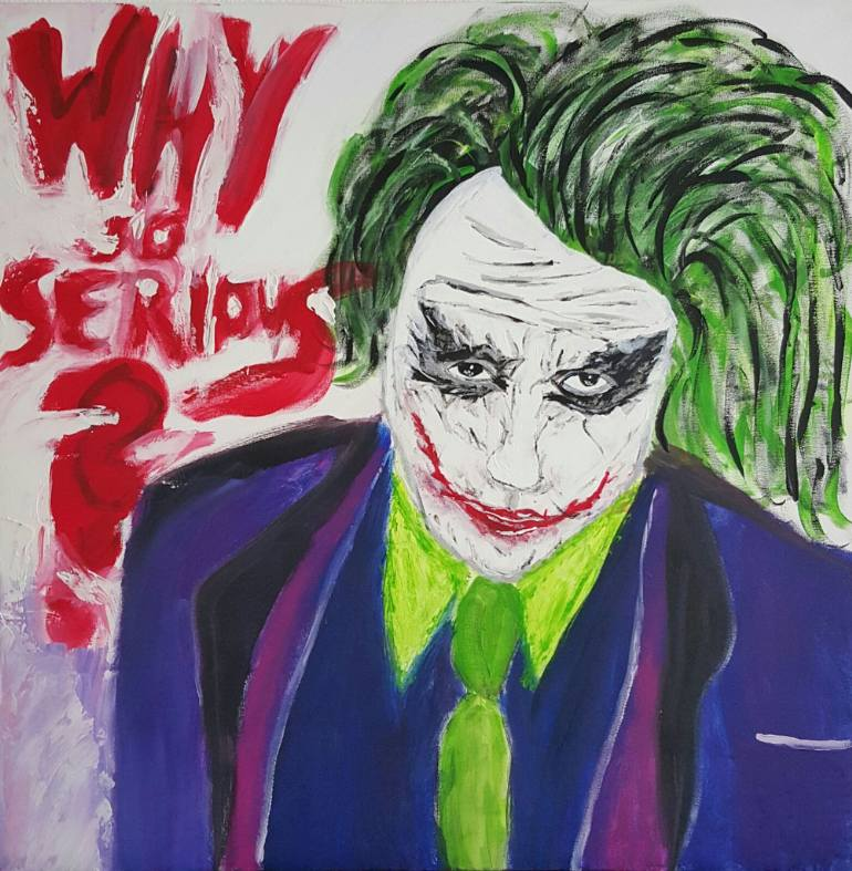 770x787 Saatchi Art Joker Why So Serious Painting By Markus
