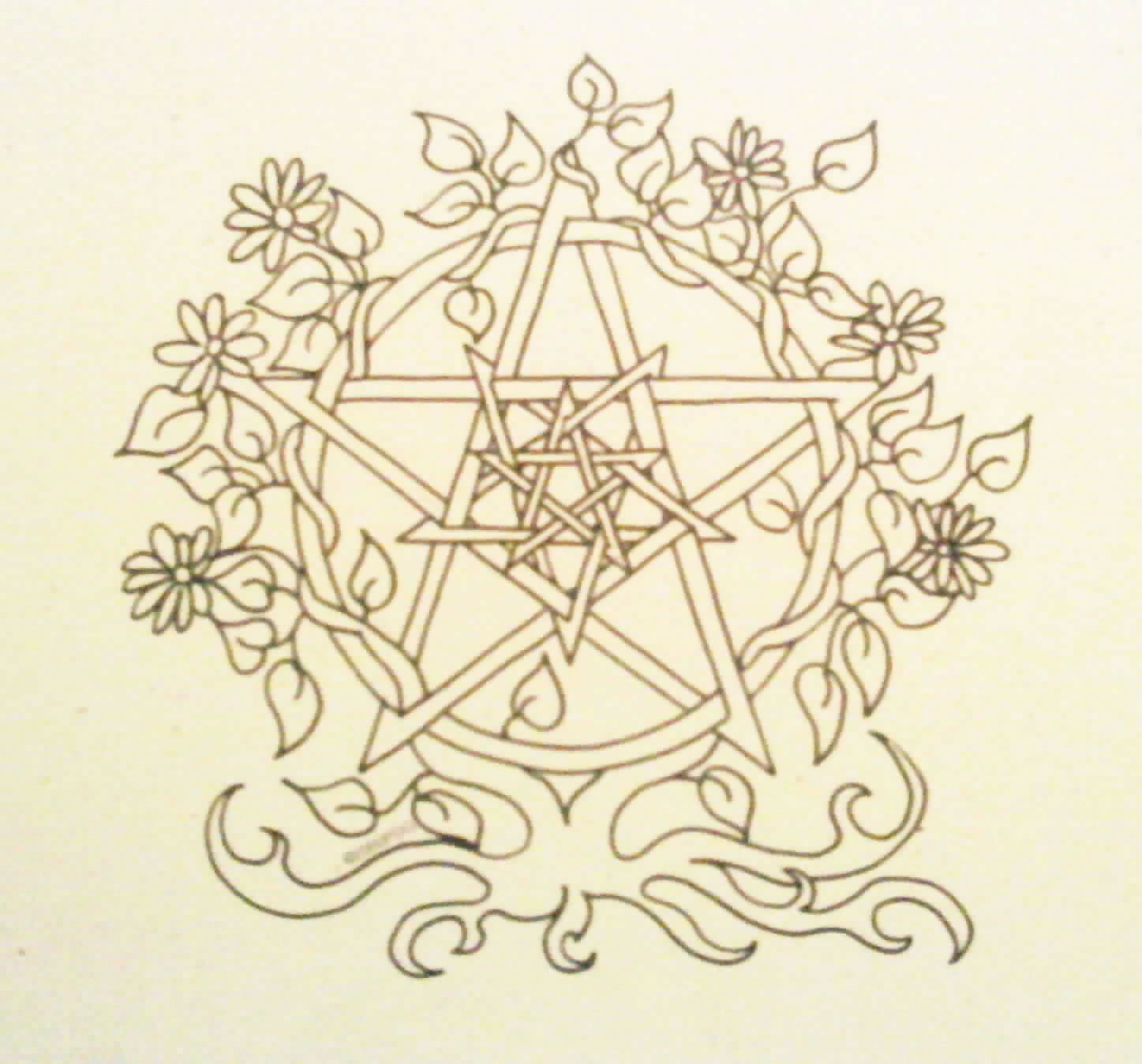 1447x1349 Wiccan Coloring Pages