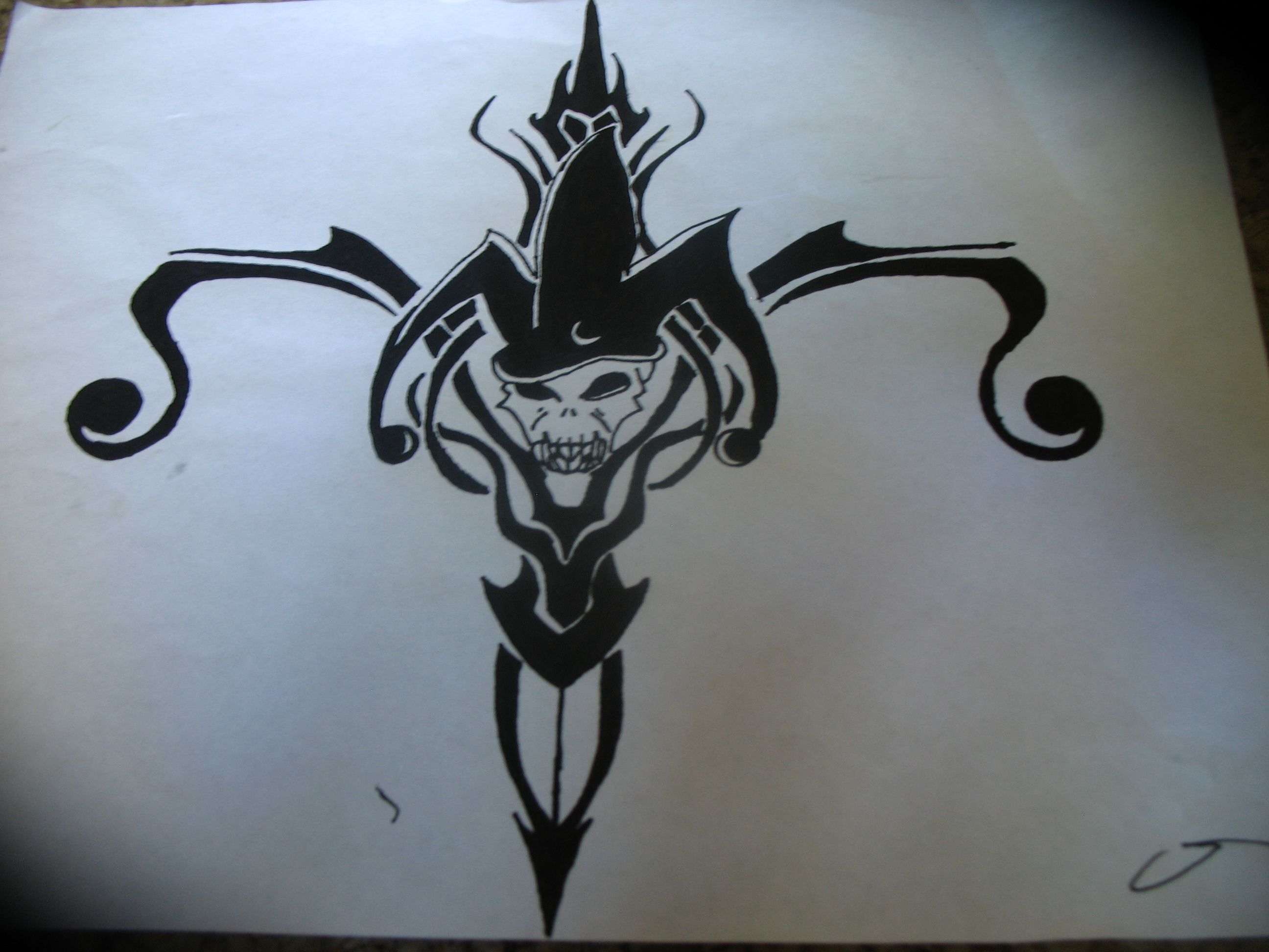 2592x1944 Black Tribal Jester Tattoo Design Knight Jester Tattoo