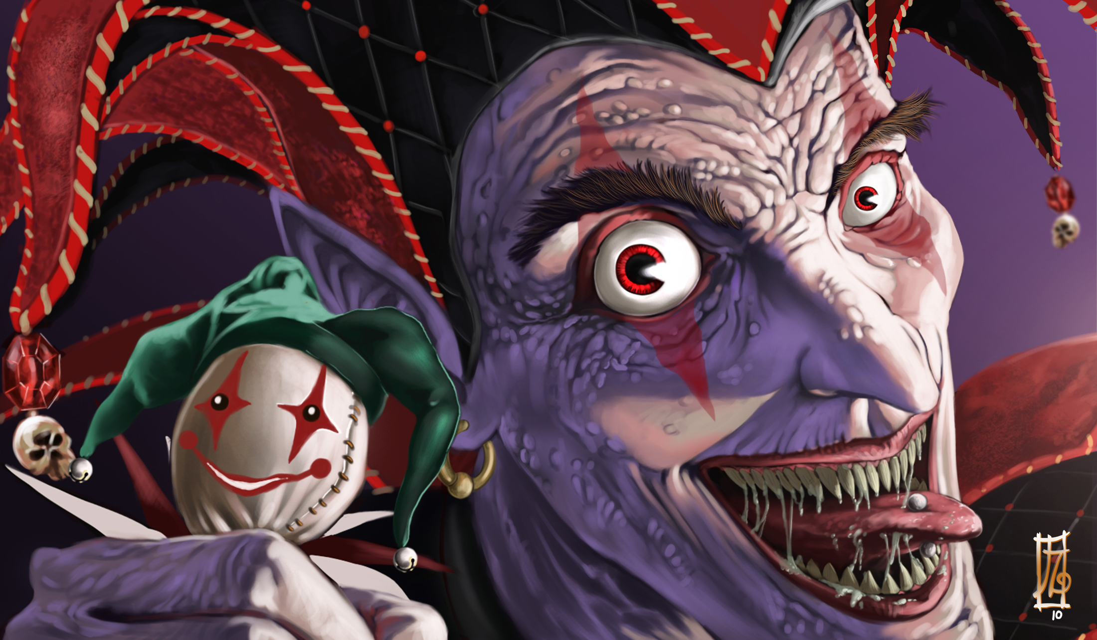 2200x1285 Jester Evil Joker Drawings Free Download Jester Background