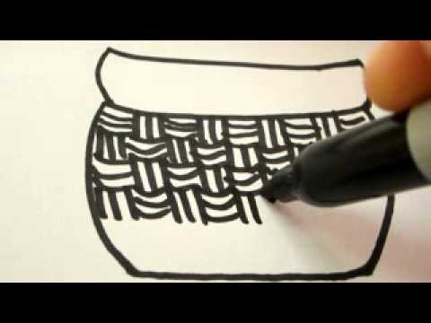 480x360 How To Draw Easter Egg Basket Real Easy !!!
