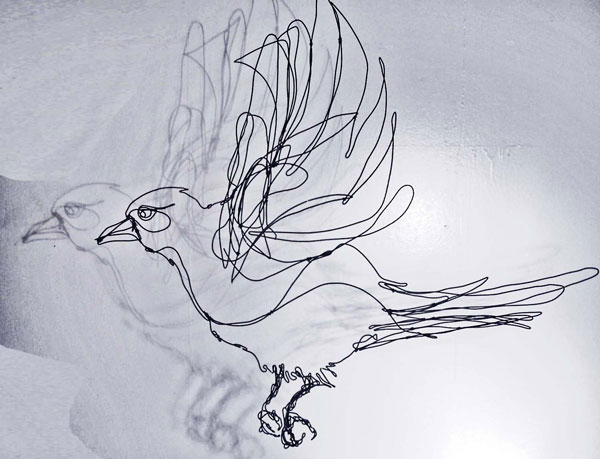 600x459 Wild Wire Bird Sculpting Gualala Arts