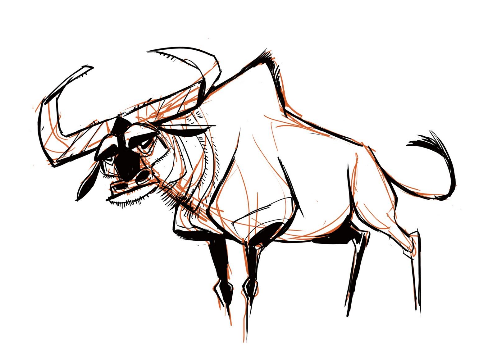 1600x1143 Martin Wittig More Wildebeest Sketches