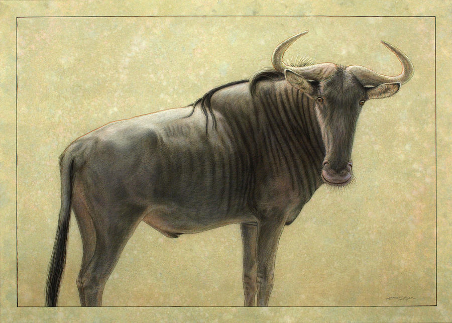 900x643 Wildebeest Painting By James W Johnson