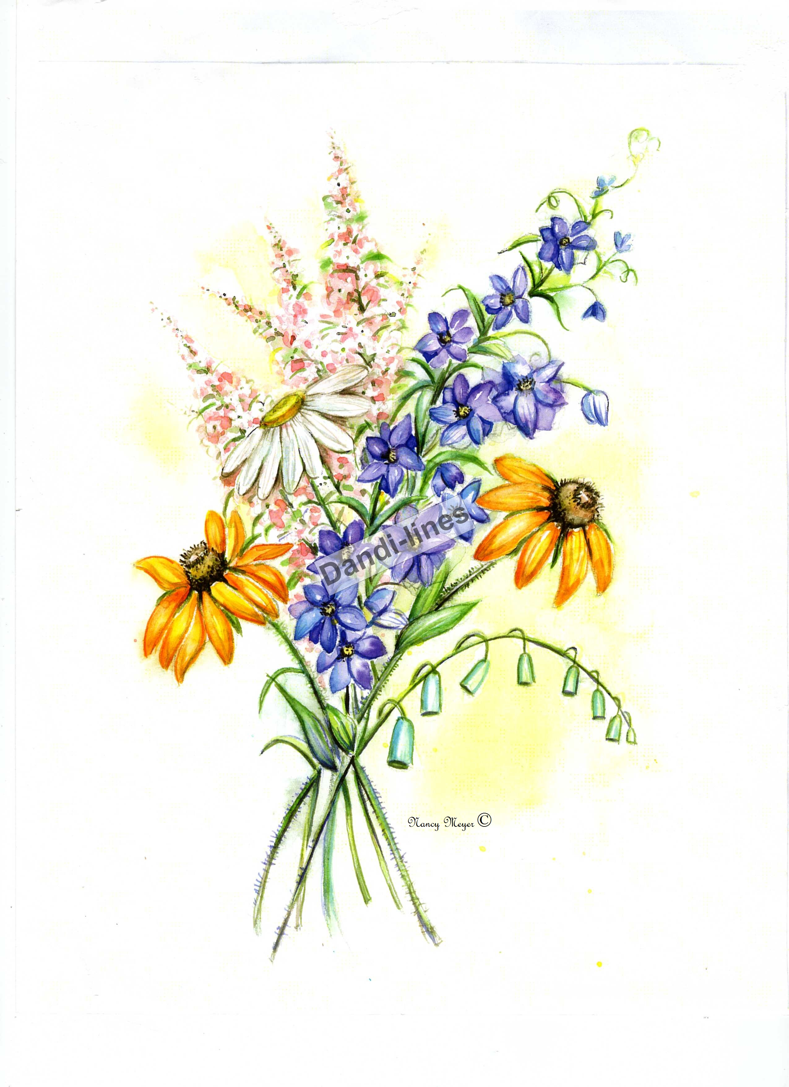 Wildflower bouquet drawing at getdrawings free for personal 2550x3509 wildflower drawing izmirmasajfo