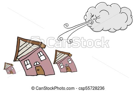 450x303 An Image Of A Windy Day Homes And Cloud Blowing Wind Vectors