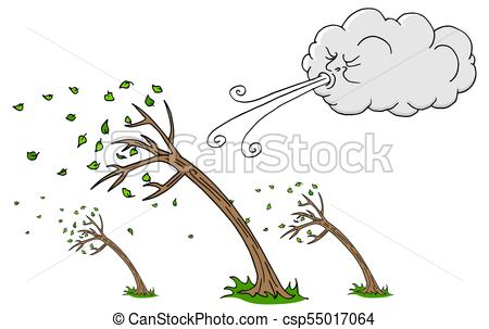 450x303 An Image Of A Windy Day Trees And Cloud Blowing Wind Clip Art
