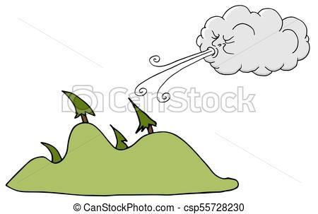 450x303 An Image Of A Windy Day Trees And Cloud Blowing Wind Vectors