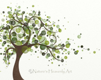 340x270 Wind Blowing Tree Art Print 8 X 10 Nature Wall Art Flowing