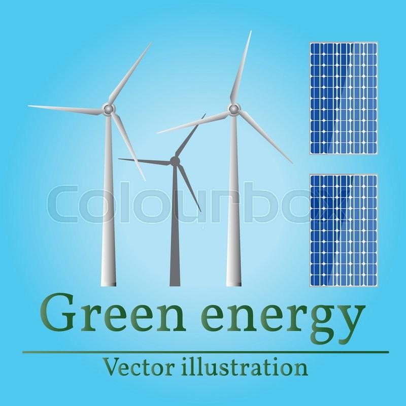 800x800 Eco Energy. Green Energy. Wind Energy. Solar Energy. Vector. Eco