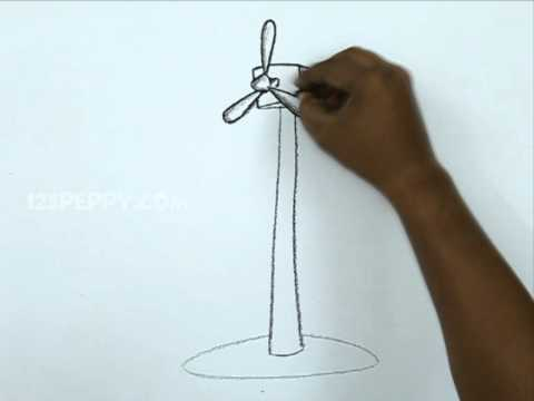 480x360 How To Draw A Wind Mill