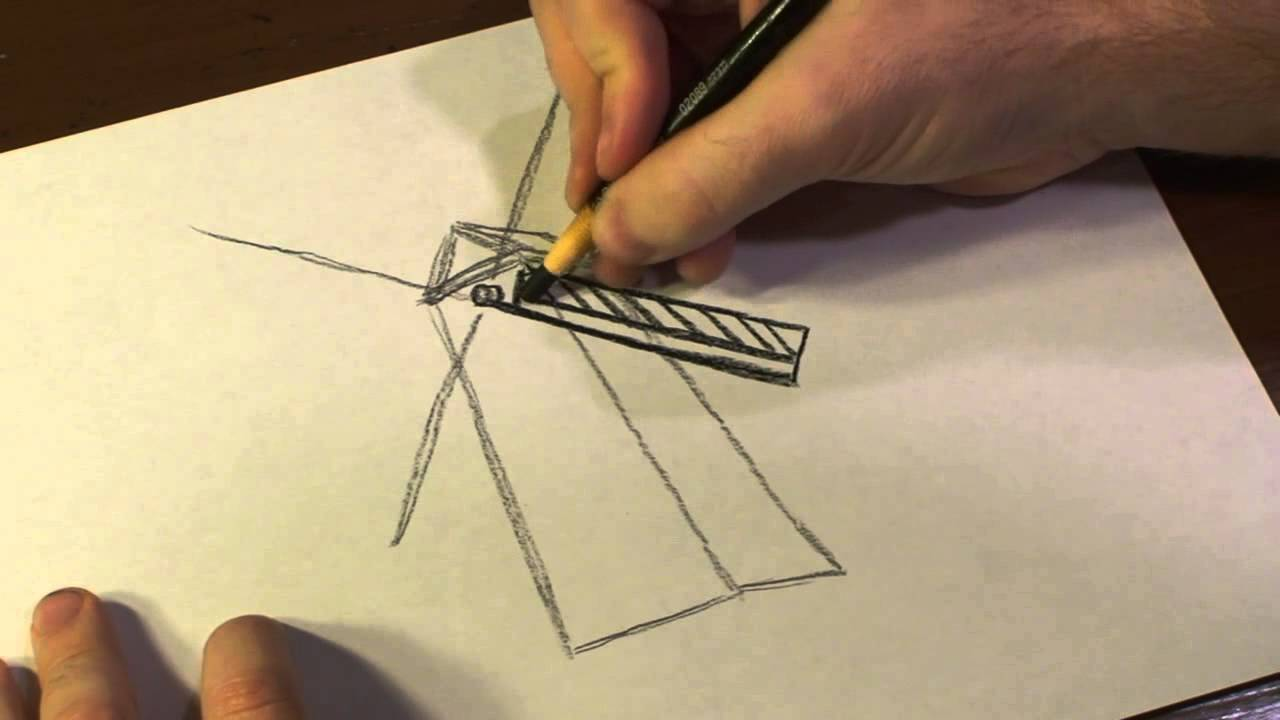 1280x720 How To Draw A Windmill