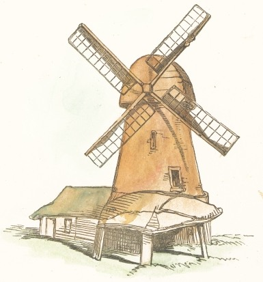 385x413 Wind Mill Drawing