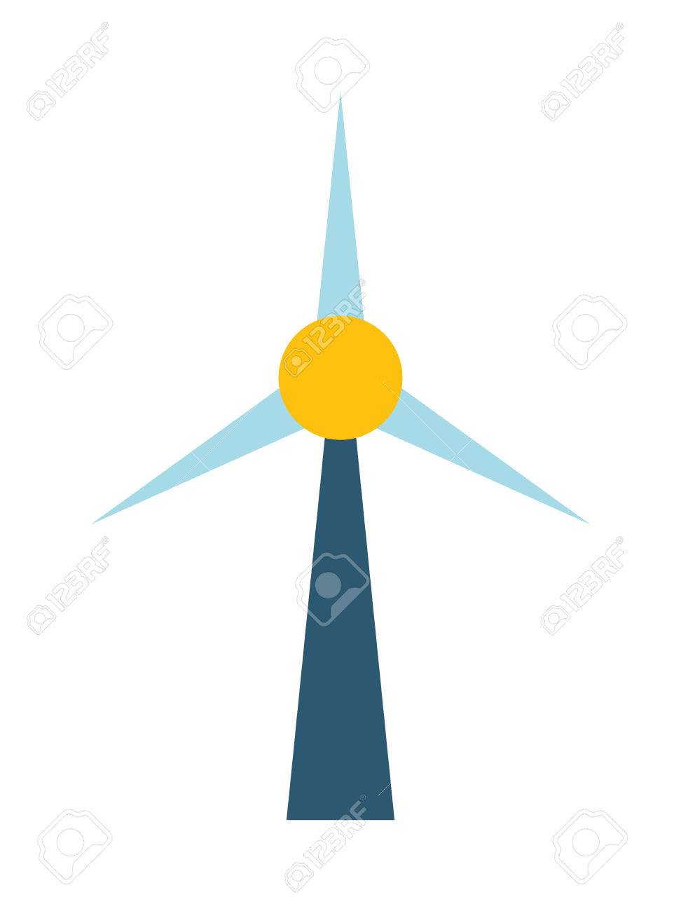 972x1300 Wind Mill Station Power Plant, Flat Vector Drawing Illustration
