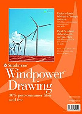 325x450 Strathmore Str 643 9 No.80 Wind Power Drawing, 9.5 By