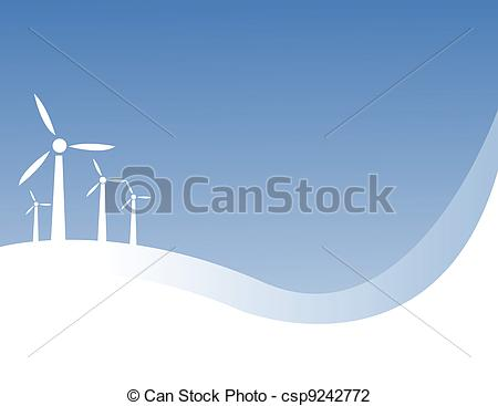 450x367 Wind Power Vector Illustration