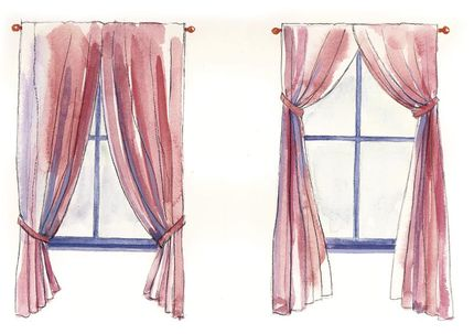 430x303 How To Draw Curtains On A Window Step By