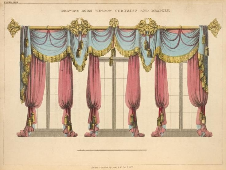 736x556 Image result for vintage curtains drawing snowy