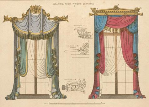 475x341 past amp present history of curtains Drawing rooms, Window