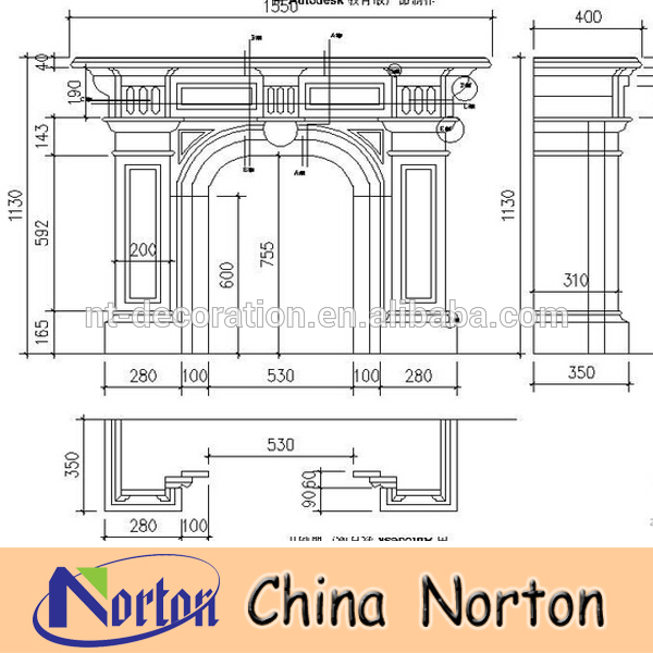 600x600 Western Style Marble Window Frame Ntmf D042