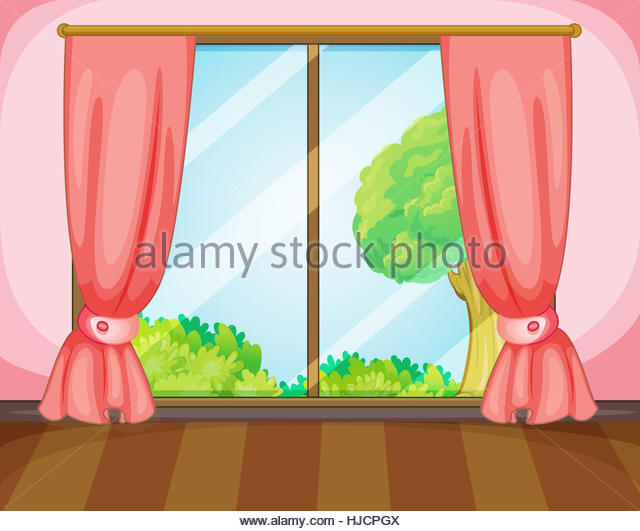 640x531 Colorful Drawing Window Window Curtains Stock Photos amp Colorful