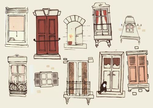 500x355 Image About Drawing In Room By Kiyuki On We Heart It
