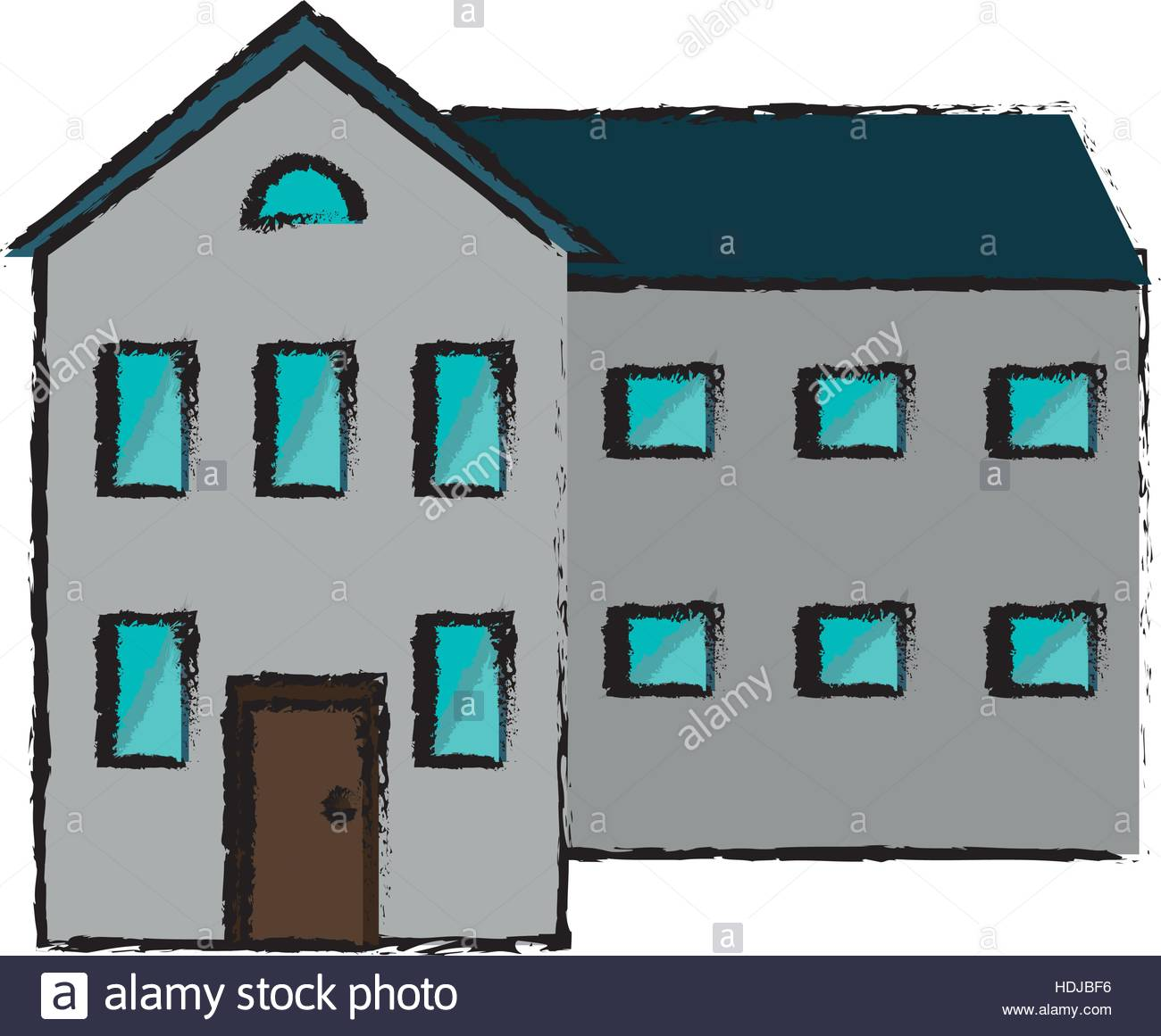 1300x1161 Drawing Big House And Many Windows Stock Vector Art Amp Illustration