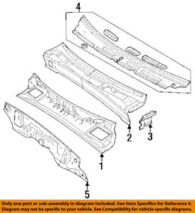 274x300 Isuzu Oem 93 97 Rodeo Cowl Grille Panel Windshield Wiper Cover