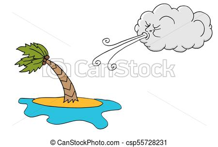 450x303 An Image Of A Windy Day Island Plam Tree And Cloud Blowing