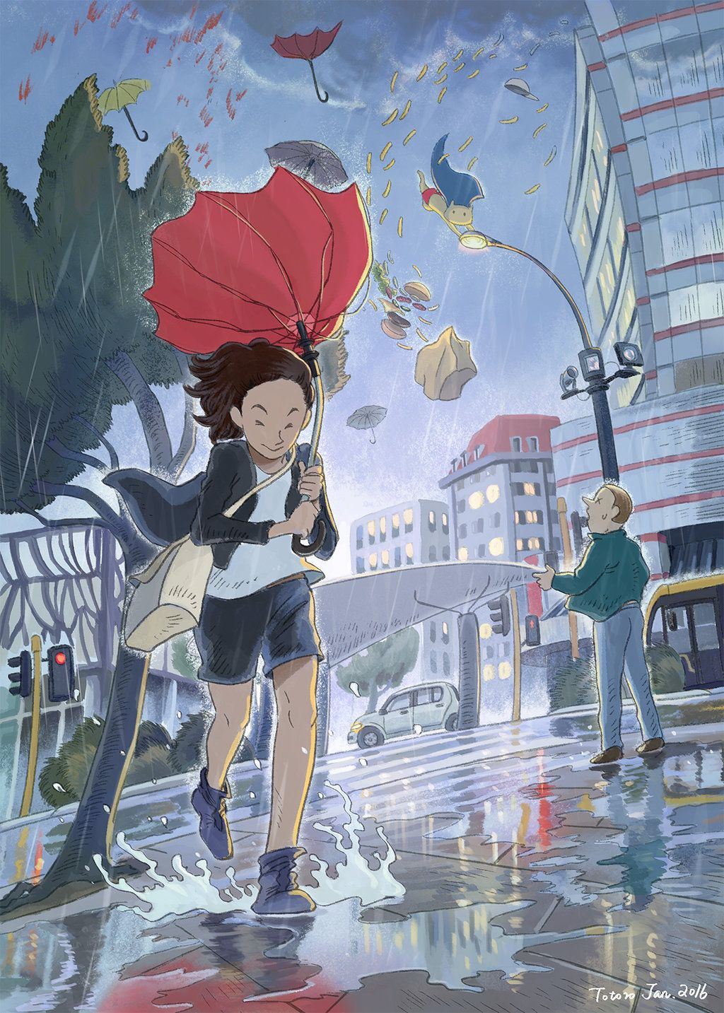 1024x1433 A Windy And Rainy Day In Welly By Ayerslibrary Creative