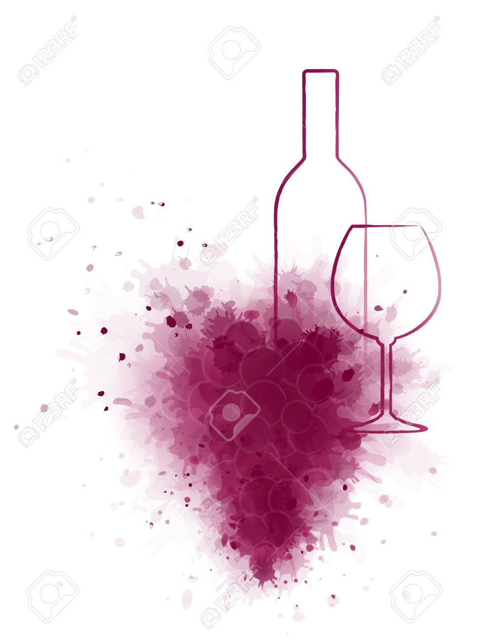 Wine Bottle And Glass Drawing at GetDrawings.com | Free for personal ...