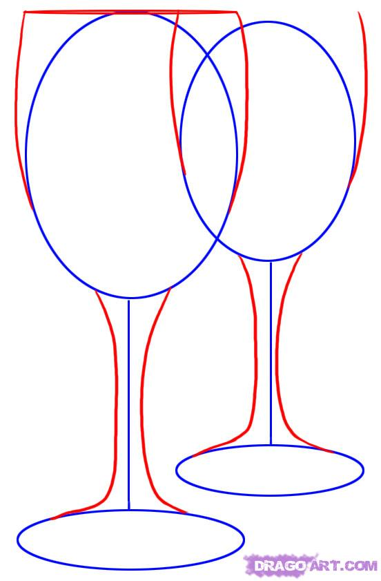 552x841 How To Draw Wine Glasses, Go To To Get More