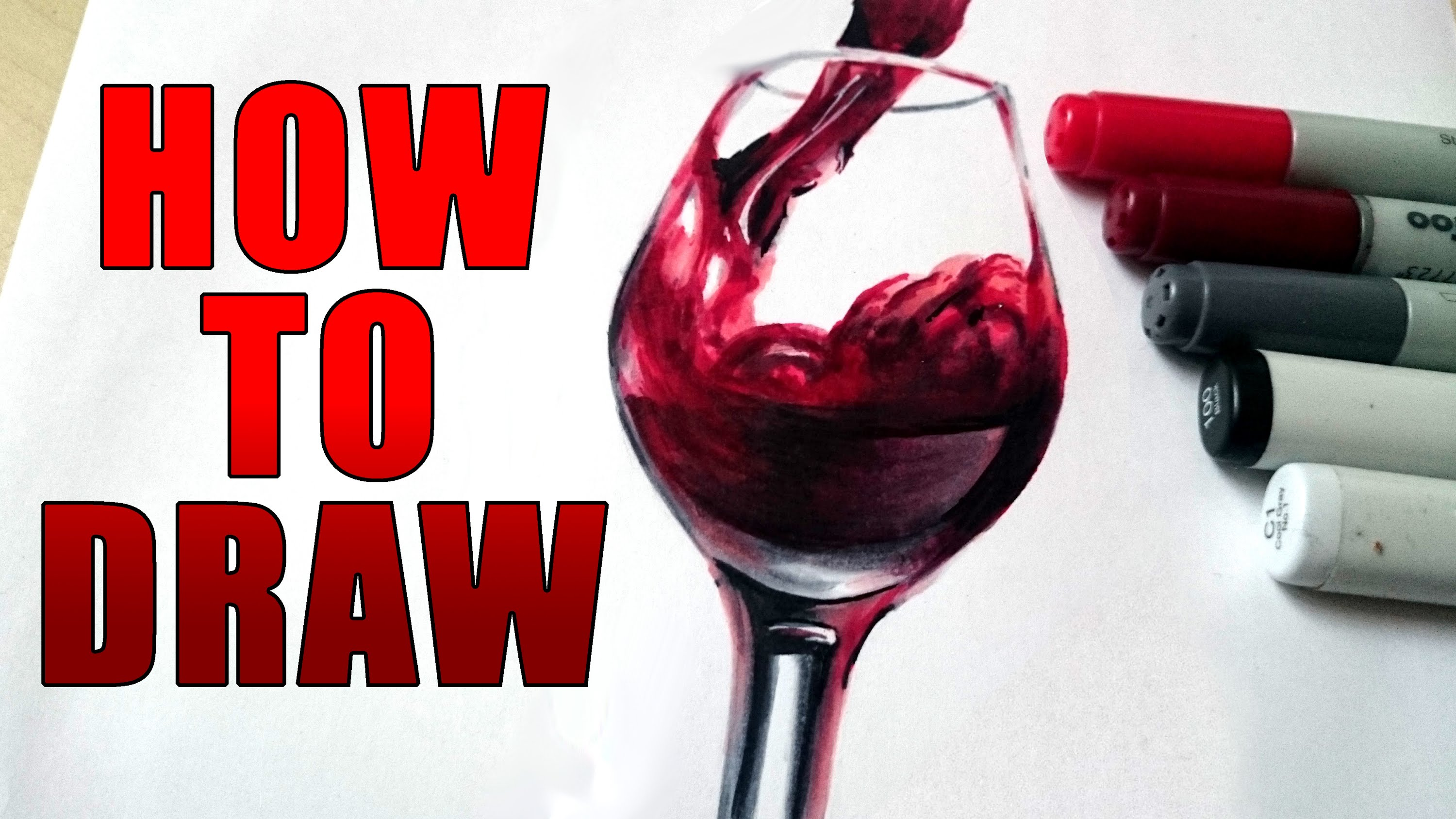 3000x1688 How To Draw A Realistic Glass Of Wine [Tutorial]
