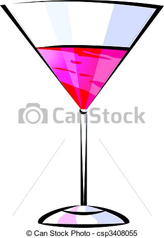 324x470 Illustration Of Wine Glass In A White Background Stock