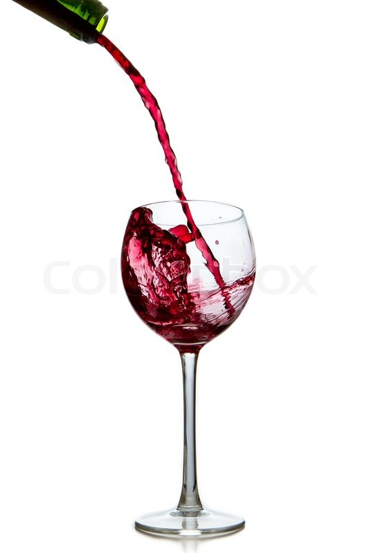 533x800 Pouring Red Wine From Bottle Into Glass Stock Photo Colourbox