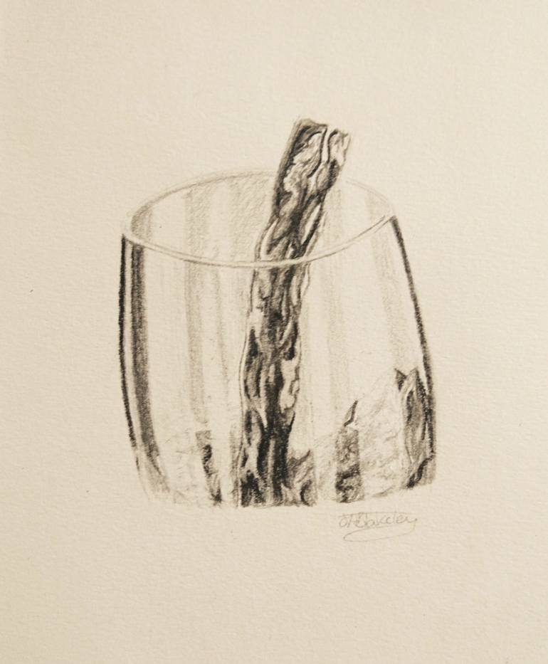 770x933 Saatchi Art Red Wine Glass Drawing By Jade Blakeley