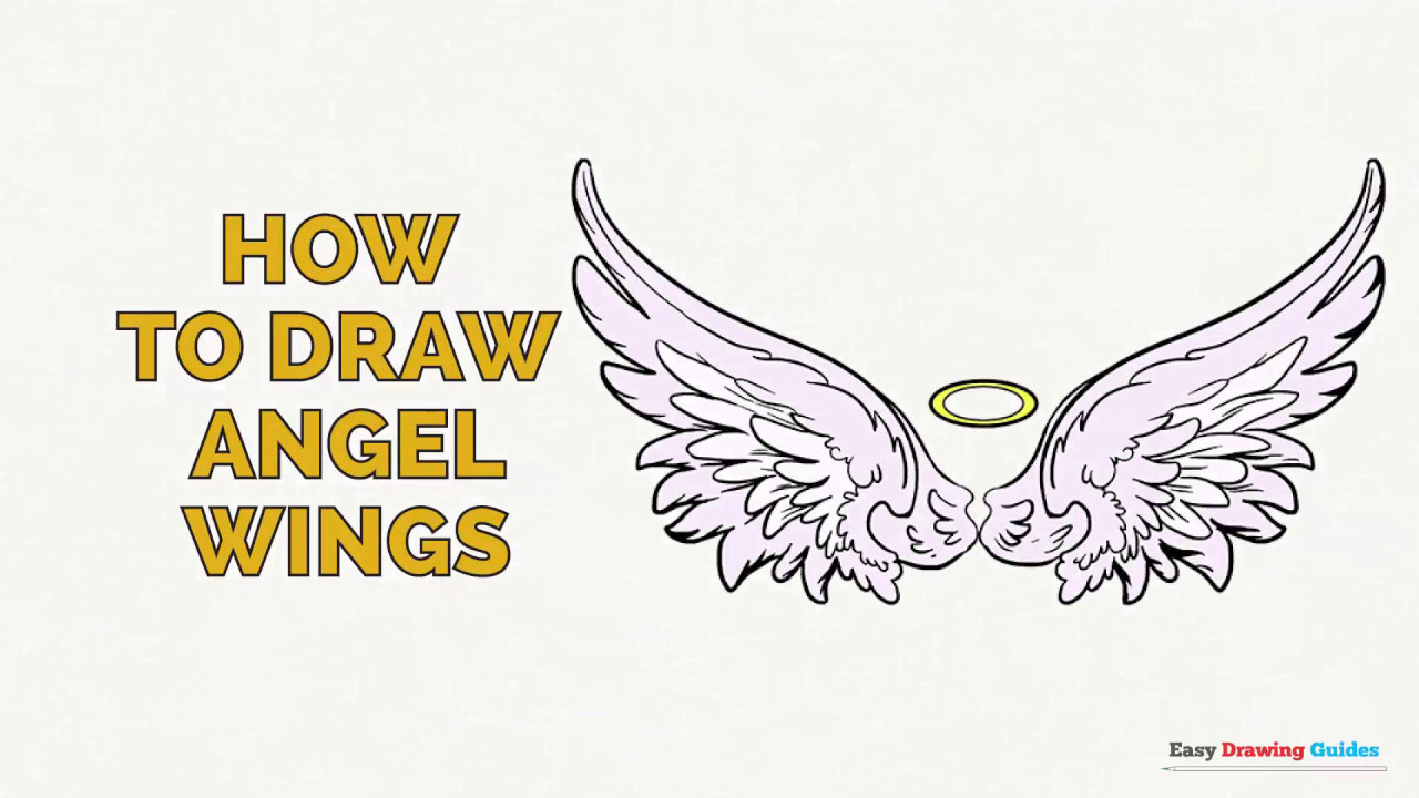 1280x720 How To Draw Angel Wings In A Few Easy Steps Drawing Tutorial