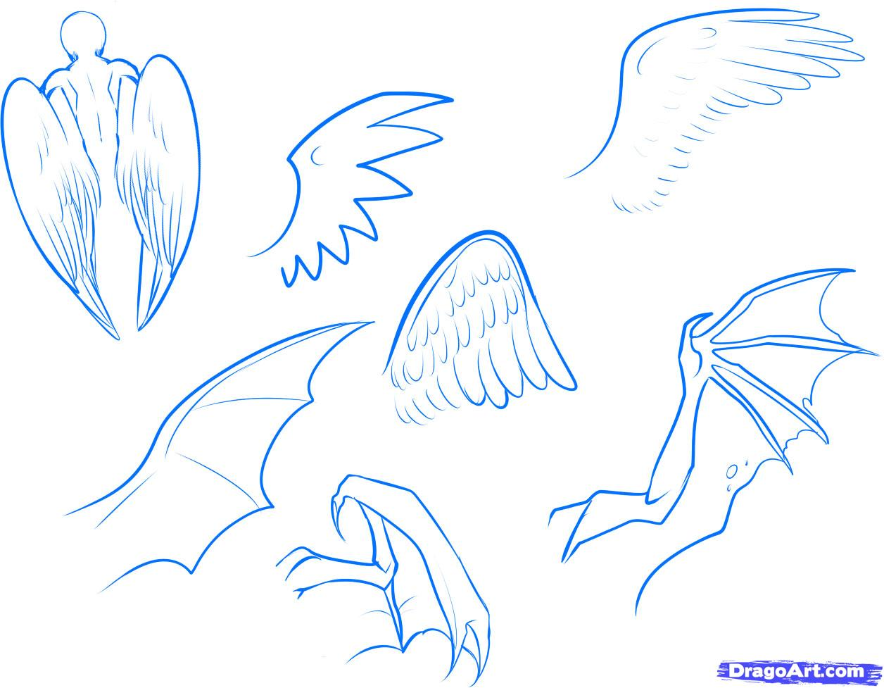 1256x977 How To Draw Anime Wings, Draw An Anime Angel, Step By Step, Anime