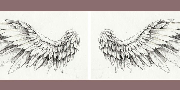 c53310e4e Wing Tattoo Drawing at GetDrawings.com | Free for personal use Wing ...