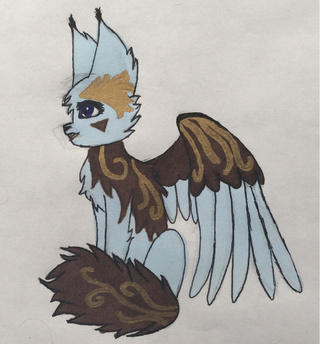 320x344 Winged Drawings On Paigeeworld. Pictures Of Winged