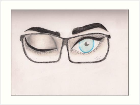 549x413 Winking Eyes Art Prints By Artistjade Redbubble