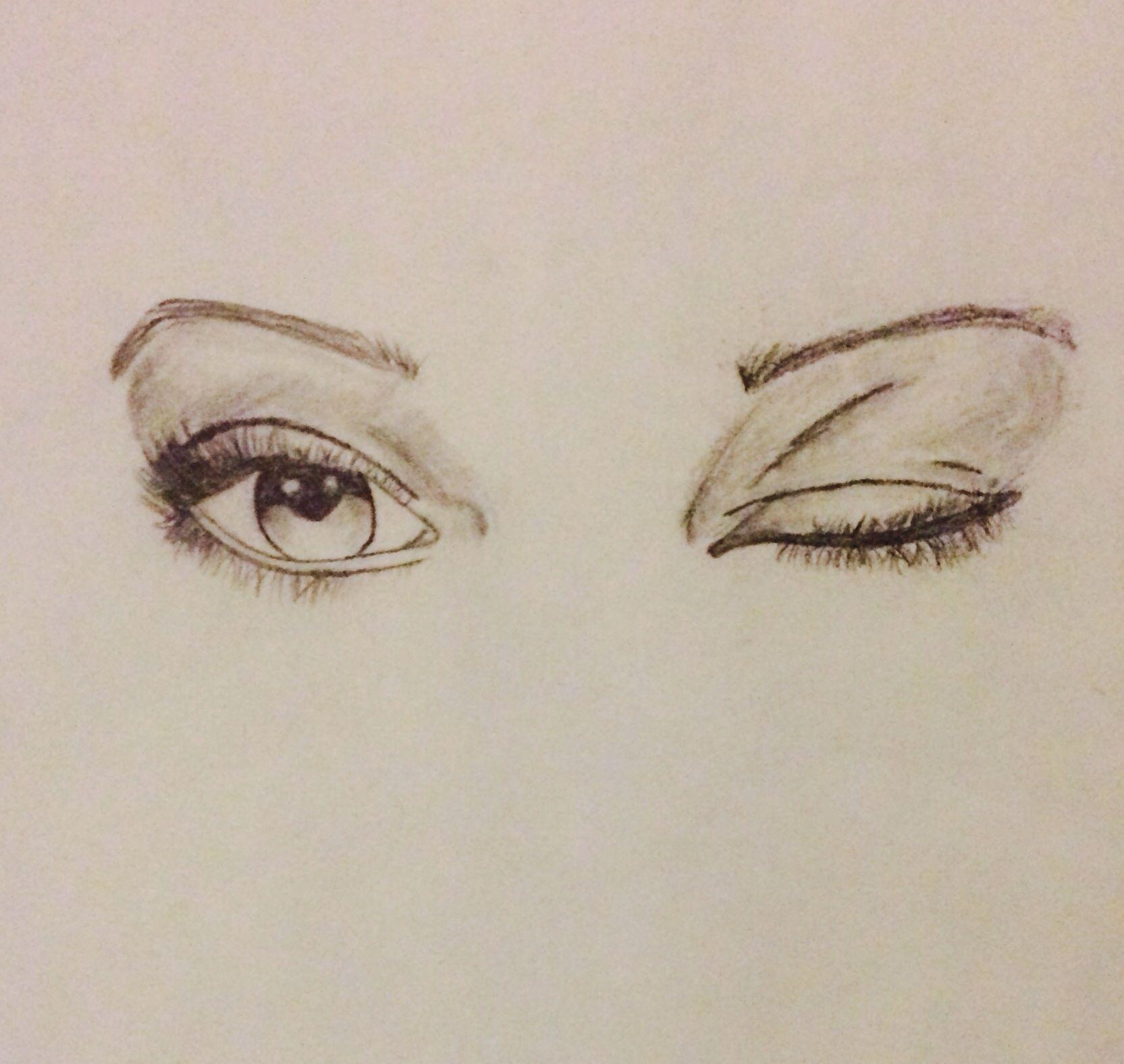 1665x1576 Woman Winking Eye The Window To The Soul Via Artistic