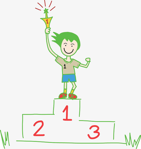 570x600 First Prize Winner, Ranking, Sort, Cartoon Hand Drawing Png Image
