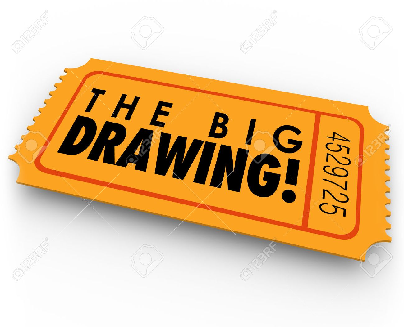 1300x1054 The Big Drawing Words On An Orange Raffle Or Contest Ticket